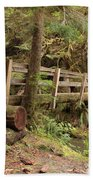 Log Bridge In The Rainforest Beach Towel