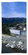 Log Cabin In Carcross Beach Towel