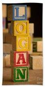 Logan - Alphabet Blocks Beach Towel