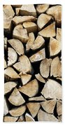 Logs Background Beach Towel