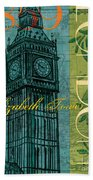London 1859 Beach Towel