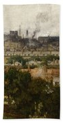 London And The Thames From Greenwich Beach Towel by John Auld