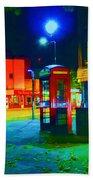 London At Night Beach Towel