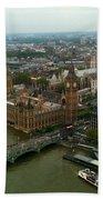 London England From The London Eye Beach Towel