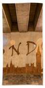 London Graffiti Skyline Beach Towel