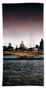 London Over The Waterloo Bridge Beach Towel