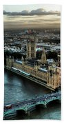 London - Palace Of Westminster Beach Towel