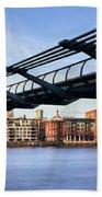 Millennium Bridge London 1 Beach Towel