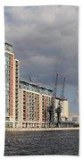 London Victoria Dock Beach Towel