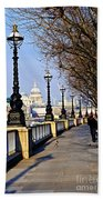 London View From South Bank Beach Towel