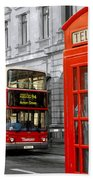 London With A Touch Of Colour Beach Towel
