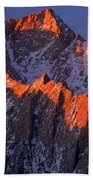 Lone Pine Peak - February Beach Towel