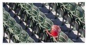 Lone Red Number 21 Fenway Park Beach Towel