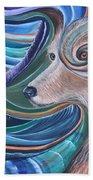 Lone Wolf Beach Towel
