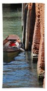 Lonely Boat In Venice Beach Towel