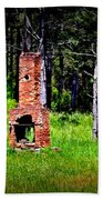 Lonely Fireplace Beach Towel