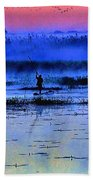 Lonely Fisher Beach Towel