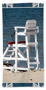Lonely Lifeguard Station At The End Of Summer Beach Towel