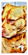 Lonely Pit Bull Beach Towel