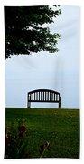 Lonesome Bench Beach Towel