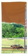 Lonestar Park - Backstretch - Photopower 2204 Beach Towel