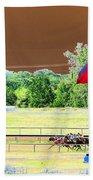 Lonestar Park - Backstretch - Photopower 2205 Beach Towel