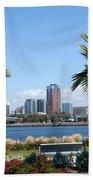 Long Beach Skyline Beach Towel