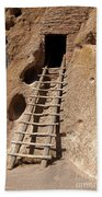 Long House Front Door Bandelier National Monument Beach Towel