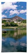 Long Lake Beartooth Pass Beach Towel