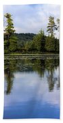 Long Lake Reflection Beach Towel