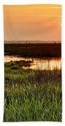 Long Marsh View Beach Towel