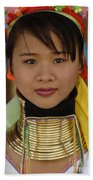 Long Necked Woman Of Thailand Beach Towel