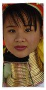 Long Necked Woman Thailand 4 Beach Towel