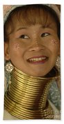 Long Necked Woman Thailand 5 Beach Towel