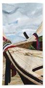 Long Tail Boats Of Krabi Beach Towel