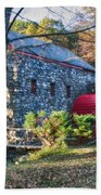 Longfellow's Wayside Inn Grist Mill In Autumn Beach Towel