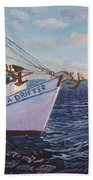 Longliners Achor To Anchor Beach Towel