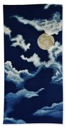 Look At The Moon Beach Towel