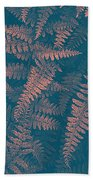 Looking At Ferns Another Way Beach Towel