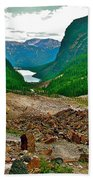 Looking Back To Lake Louise From Trail To Plain Of Six Glaciers In Banff Np-ab  Beach Towel