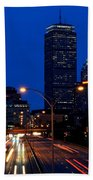 Looking Down The Mass Pike From The Brookline Ave Bridge Beach Towel