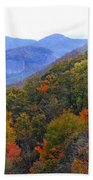 Looking Glass Rock And Fall Colors Beach Towel