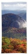 Looking Glass Rock And Fall Folage Beach Towel