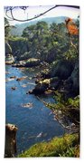 Looking Through The Trees At Point Lobos Beach Towel