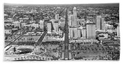 Looking Up Flagler Street At Downtown Miami Beach Towel