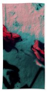 Looks Like Painted Roses Abstract Beach Towel