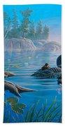 Loon Family Beach Towel