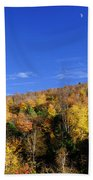 Loon Mountain Foliage Beach Towel