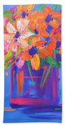 Loosey Goosey Flowers Beach Towel