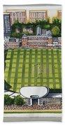 Lords Cricket Ground Beach Towel